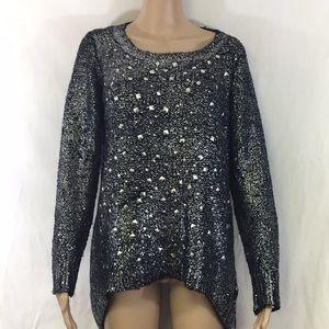 Alberto Makali metallic sweater medium